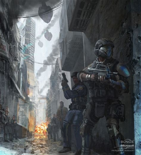 Sky Sanctuary Halo 3 Odst Concept Art Odsts And