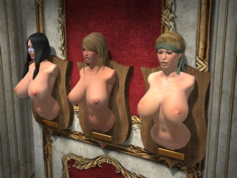 3d 3girls Amputee Bdsm Black Hair Blonde Hair Bondage