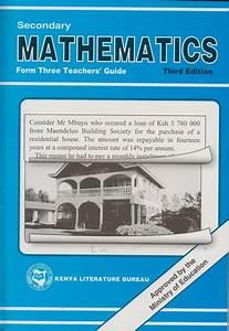 Secondary Maths Form 3 Teachers U0026 39  Guide Klb
