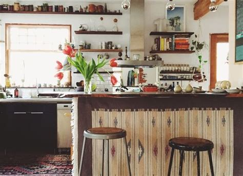copper backsplash tiles dreamy boho kitchens you to see to believe