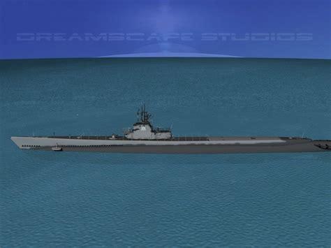 gato submarine uss class grouper ss214 3d cgtrader