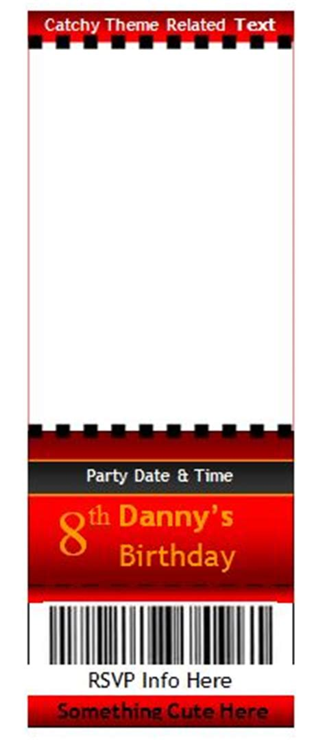 editable raffle  ticket templates