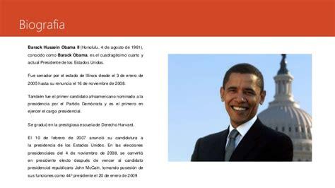 Barack Obama Resumen De Su Biografia by Barack Obama