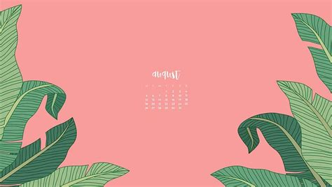 FREE August wallpaper calendars—7 cute and colorful options!