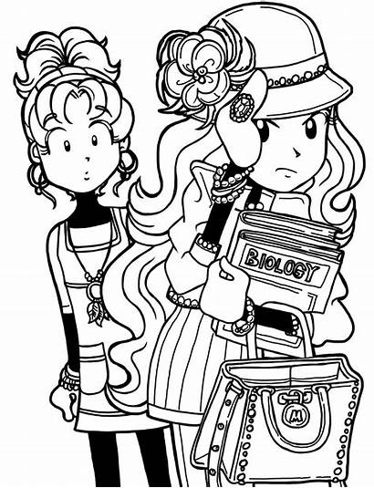 Dork Diaries Coloring Pages Mackenzie Nikki Maxwell