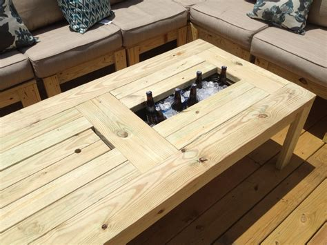 Outdoor Deck Table by White Coffee Table For The Deck Diy Projects