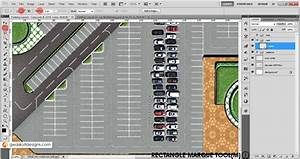 Parking Layout Plan Render In Photoshop