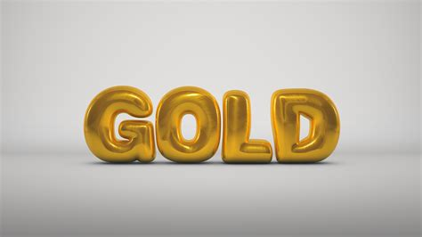 gold render  cinema  typography bubbles balloon