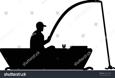 Fishing Boat Silhouette by Fishing Silhouette Boat Stock Vector 360143639