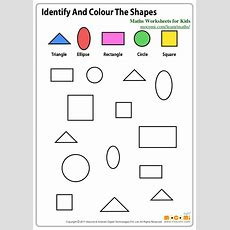 Identify And Colour The Shapes  Maths Worksheets For Kids Mocomic…