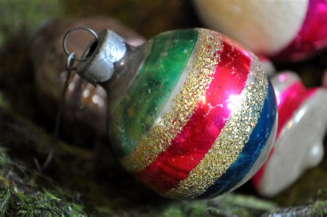 antique christmas ornament vintage glass ball ornament