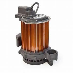 Manual Sump Pump  25 U0026 39  Cord  1  3hp  115v