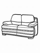 Sofa Coloring Ausmalbilder Printable Malvorlagen Zum sketch template