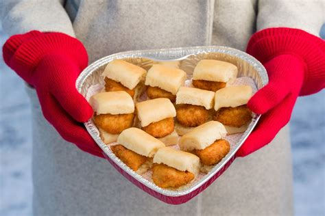 chick fil   selling heart shaped chick  minis boxes