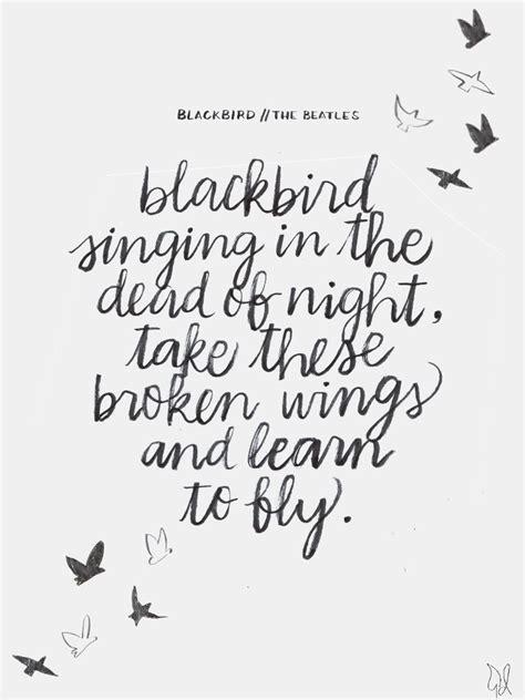 hope blackbird singing   dead  night