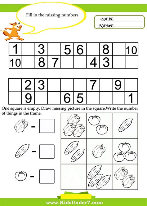 free printable kindergarten math worksheets chapter 1