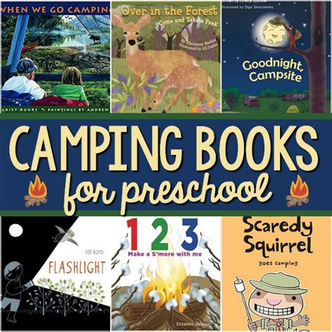 books about camping for preschool pre k pages 828   Camping Books for Preschool