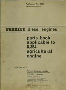Perkins Diesel Engine 6 354 Parts Manual
