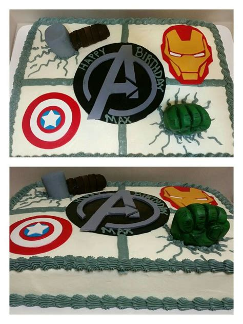 avengers sheet cake  fondant decoration cakes ive