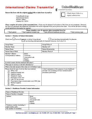 united healthcare insurance claim form claim form claim form for united healthcare