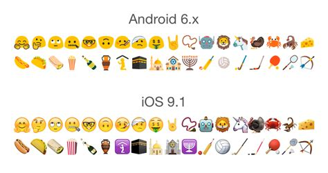 android to iphone emoji look android 6 emoji updates