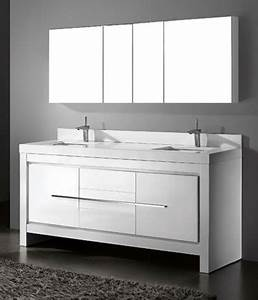 White Bathroom Vanities - Modern - Bathroom Vanities And