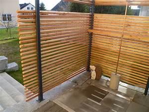 sichtschutz larche mobel ideen 2018 With französischer balkon mit sauna selber bauen garten