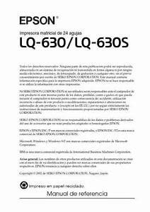 Epson Lq630s Printer Download Manual For Free Now