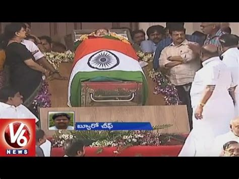 Political Leaders Pays Tribute To Tamil Nadu CM ...