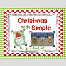 Easy Holiday Craft Pack & Giveaway! Simple Reindeer Glyph  First Grade Blue Skies