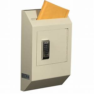 protex wdb 110e letter size wall drop box w electronic With letter drop box