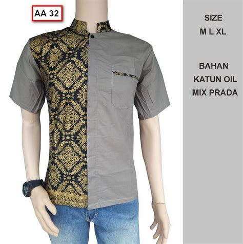 40 kemeja baju batik pria lengan pendek terbaru busanamuslimpria