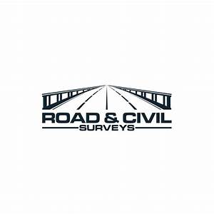 a standout bridge construction logo for Road & Civil ...