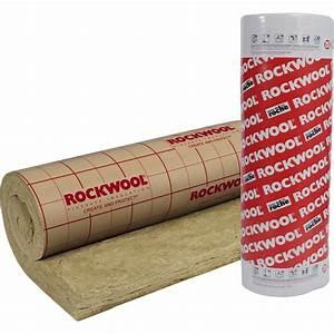 Laine de roche Roulrock Kraft ROCKWOOL 2 4 x 1 2 m, Ep 200 mm, R=5 10 Leroy Merlin