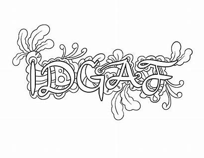 Coloring Pages Words Curse Printable Adult Getcolorings