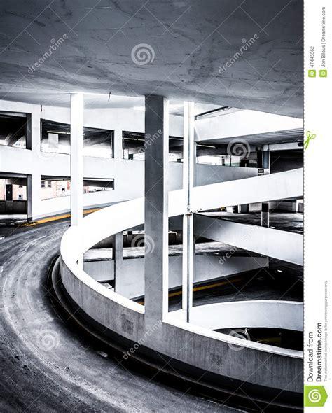 Ramp In A Parking Garage, In Baltimore, Maryland Stock