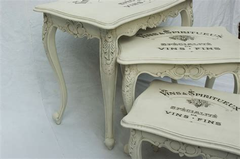 shabby chic vintage tables vintage shabby chic nest of tables 11 12 touch the wood
