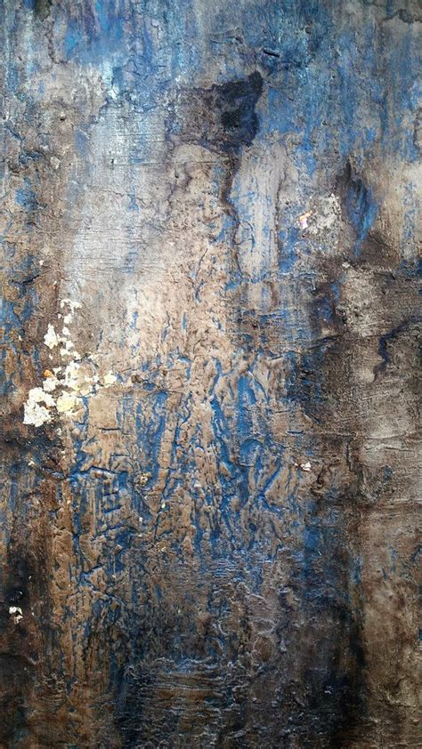 original rustic gold leaf abstract texture painting