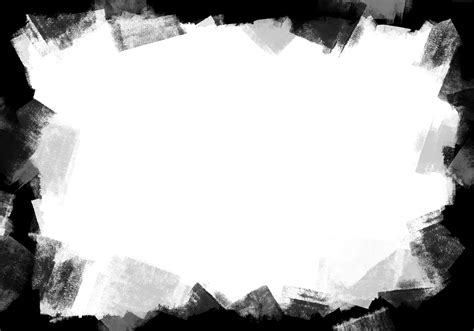 Black Paint Frame Png And Jpg