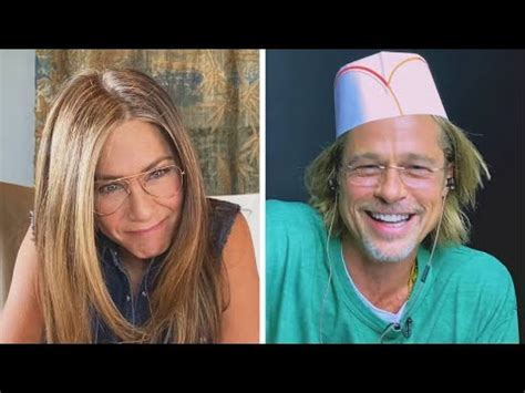 Brad Pitt & Jennifer Aniston Reenact FLIRTY Scene From ...