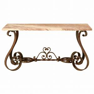 Wrought Iron Sofa Table HomesFeed