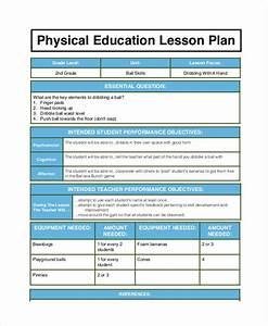 elementary pe lesson plan format templates resume examples With elementary pe lesson plan template