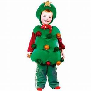Infant Christmas Tree Body Vest Costume with Ornaments and
