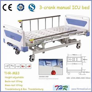 China 3 Crank 5 Functions Manual Hospital Bed  Thr