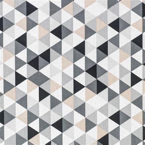 enduit cuisine coton motif géométrique gris pas cher tissus price