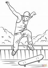 Skateboard Coloring Jump Pages Drawing Printable Print Skateboarding Sketch Ramp Paper sketch template