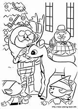 Coloring Rudolph Reindeer Pages Nosed Christmas Snowman Printable Adult Colouring Adults Abominable Characters Sheets Books Print Rudolf Frosty Winter Getcolorings sketch template