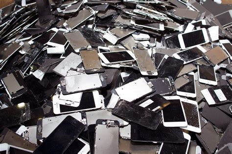 iphone recycling inside the mega shredder facility that chews up