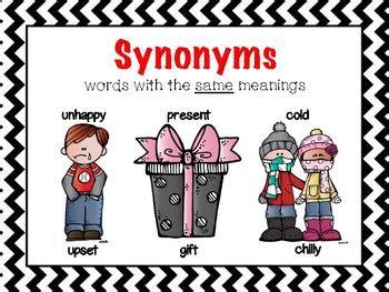 poster set antonyms synonyms homophones homonyms