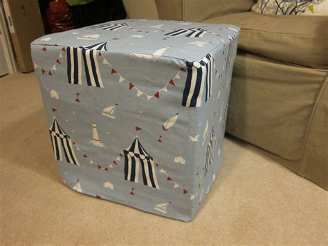 Re-covering An Ikea Footstool